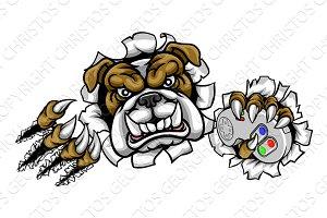 Bulldog Esports Gamer Mascot
