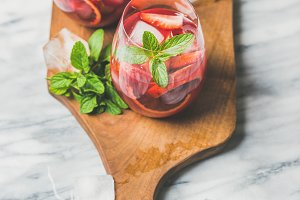 Orange and strawberry summer Sangria