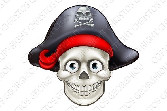 Cartoon Pirate Skull Cartoon