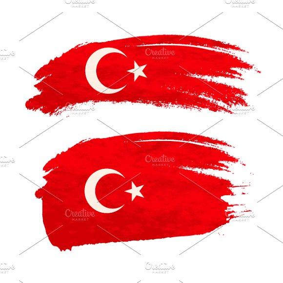 Brush Stroke With Turkey Flag