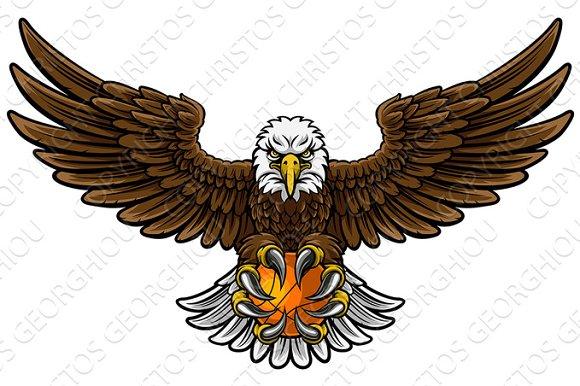 Eagle Basketball Sports Mascot