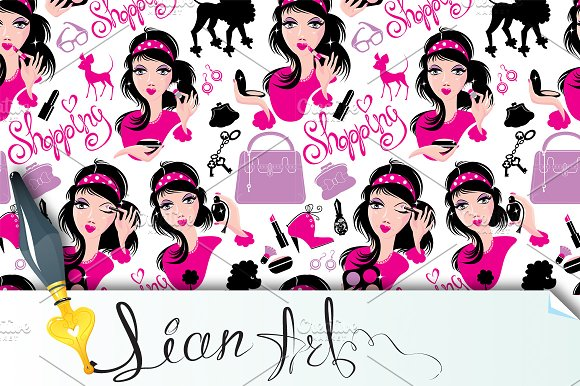 Seamless pattern for fashion Design,