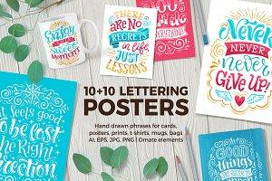10 Lettering POSTERS + bonus