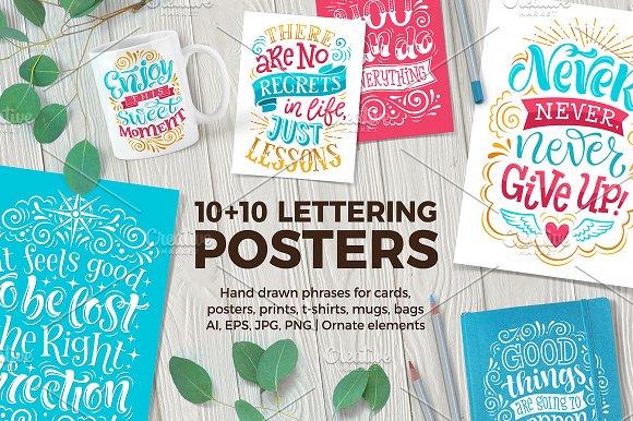 10 Lettering POSTERS Bonus