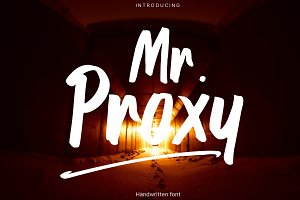 Mr. Proxy | Handwritten Font