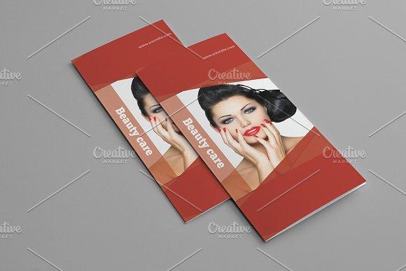Trifold Beauty Salon Brochu-Graphicriver中文最全的素材分享平台