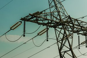Top Part of Electrical Pylon