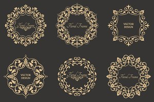 Monogram decorative vector frames
