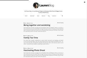 Lauren Minimalist Blogger Template