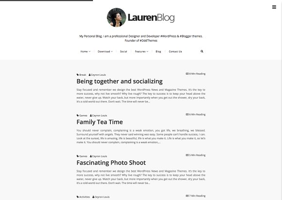 lauren minimalist blogger template website templates creative market