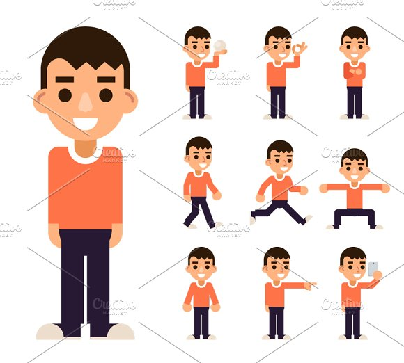 Teen Boy In Different Poses