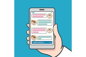 Smartphone physician online consultation