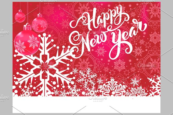 Happy New Year Card in Illustrations