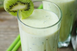 Milkshake with kiwi