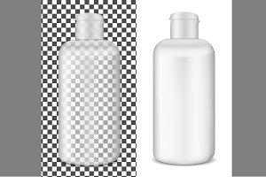 Transparent lotion bottle