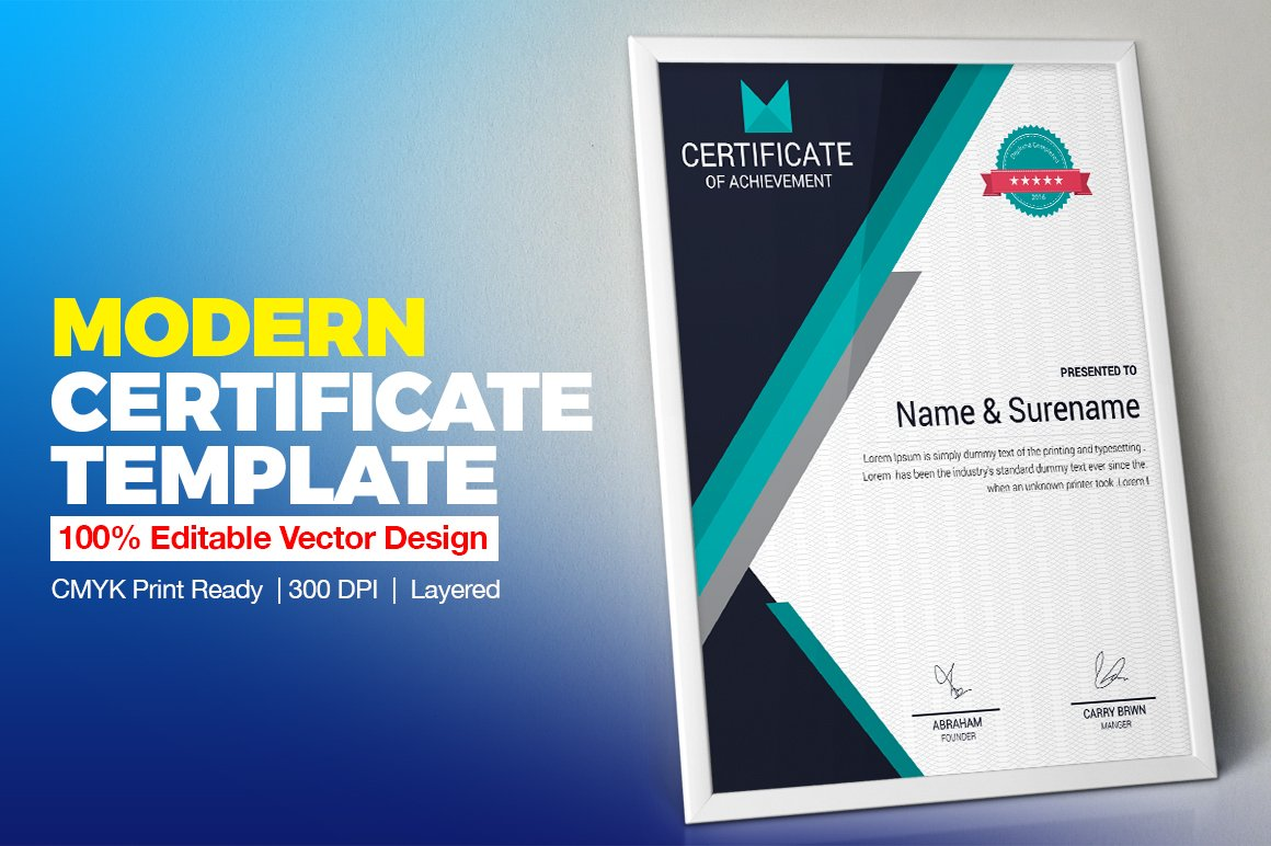 Certificate template vol 02 stationery templates creative certificate template vol 02 stationery templates creative market yadclub Choice Image