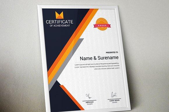 Certificate Template Vol 02 Stationery Templates Creative Market