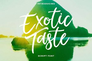 New! ExoticTaste Script Font
