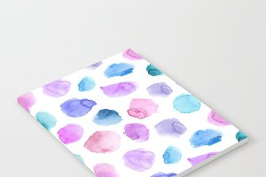 Watercolor tender pattern