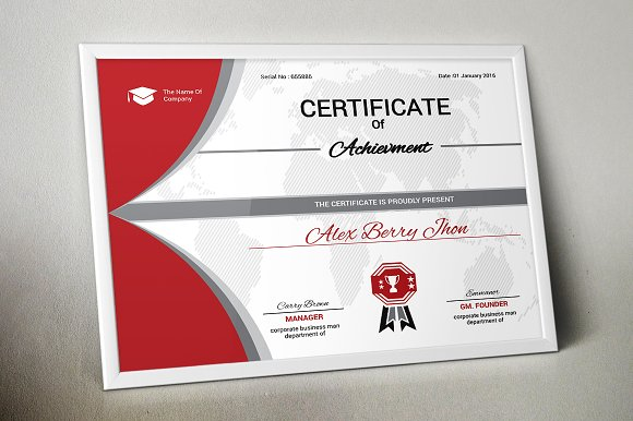 Certificate Template Vol 04 Stationery Templates Creative Market
