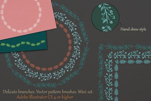 Branch vector pattern brushes
