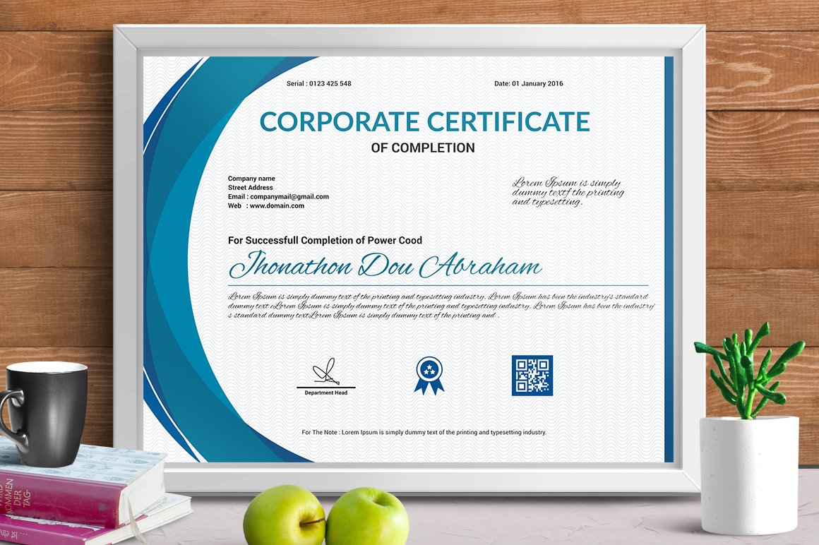Certificate template vol 03 stationery templates creative certificate template vol xflitez Choice Image