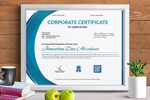 Certificate template vol 06 stationery templates creative certificate template vol 06 stationery yadclub Choice Image