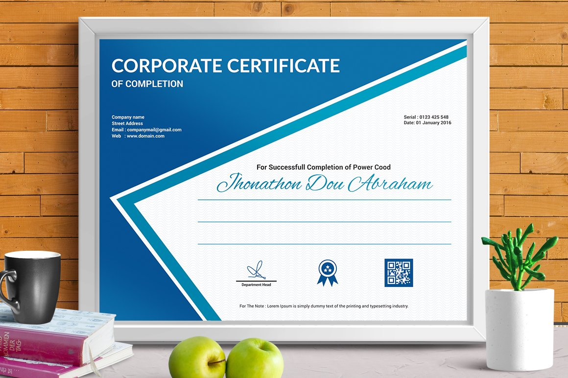 Certificate template vol 04 stationery templates creative certificate template vol xflitez Choice Image