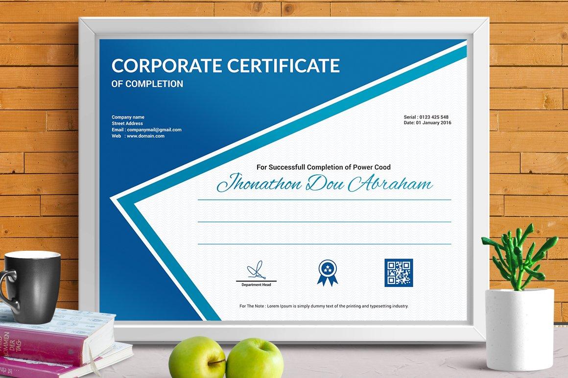 Certificate Template Vol 07 Stationery Templates Creative Market