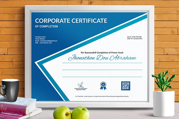 Certificate template vol 07 stationery templates creative certificate template vol 07 stationery yadclub Choice Image