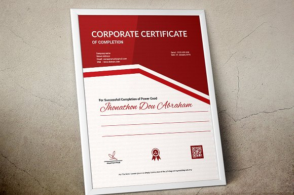 Certificate template vol 07 stationery templates creative market yelopaper Gallery