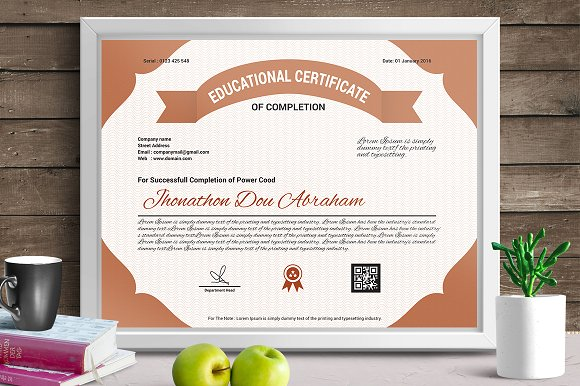 Certificate template vol 08 stationery templates creative certificate template vol 08 stationery yadclub Choice Image