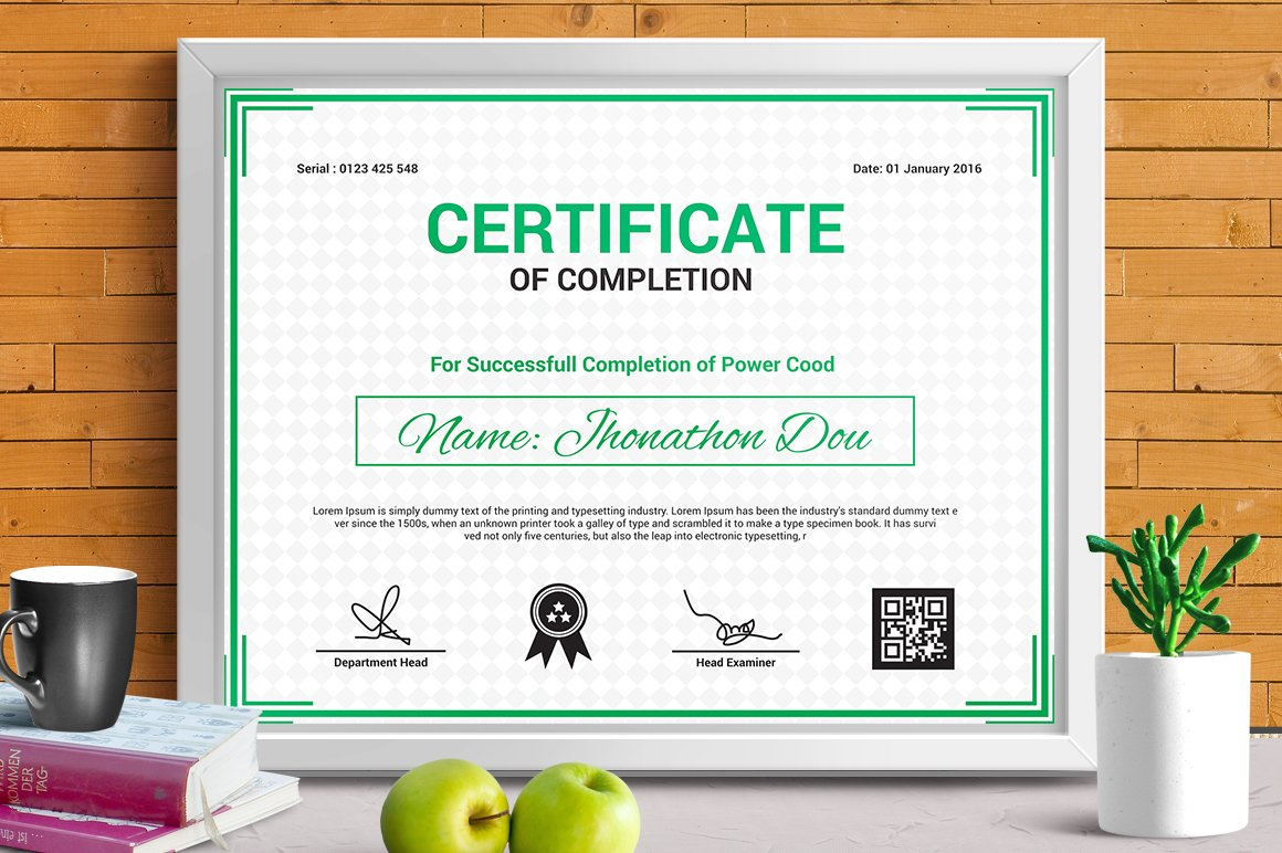 Modern certificates stationery templates creative market certificate template vol yelopaper Image collections