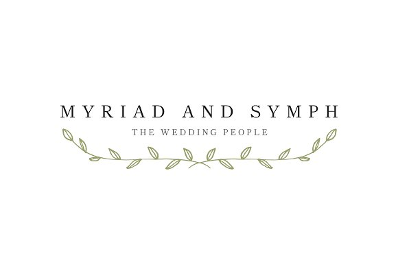 Wedding Logo Floral Handdrawn