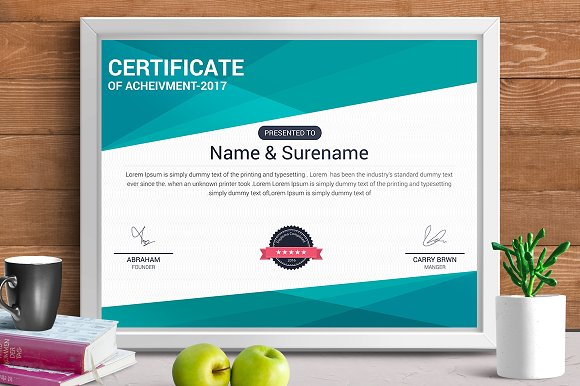 Certificate template vol 10 stationery templates creative market yelopaper Gallery