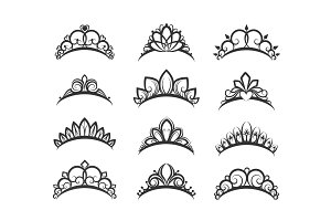 Beautiful queen tiaras set