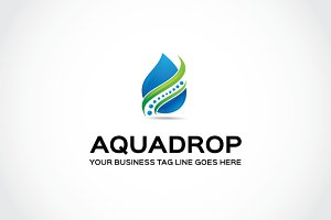 Aqua drop Logo Template