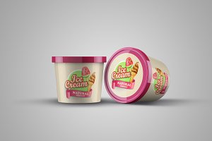 Ice Cream Product Mock-up