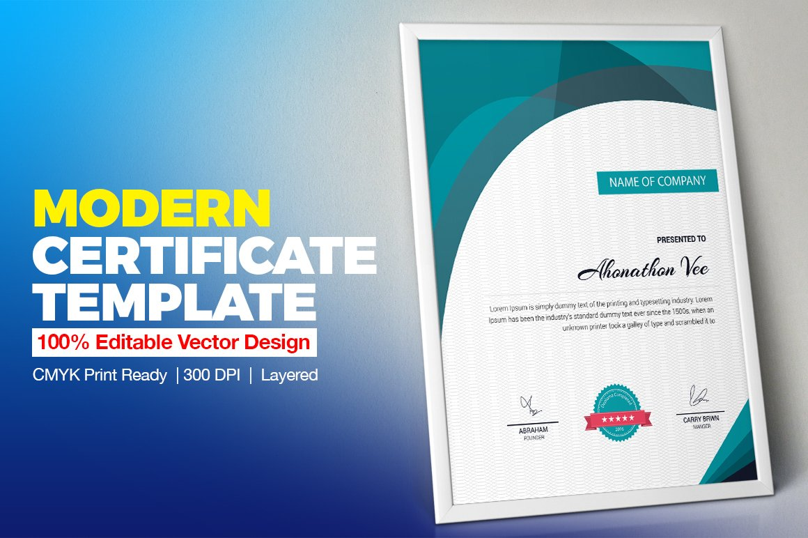 Certificate template vol 11 stationery templates creative certificate template vol 11 stationery templates creative market yadclub Choice Image