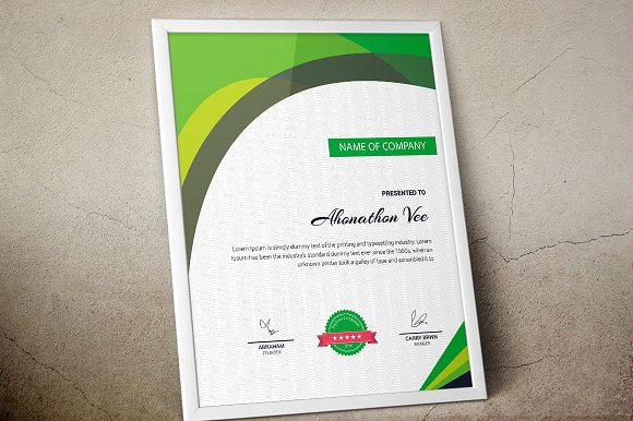 Certificate template vol 11 stationery templates creative market yelopaper Gallery