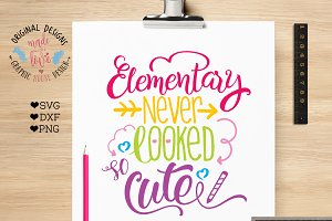 Elementary Never Looked So Cute Cut