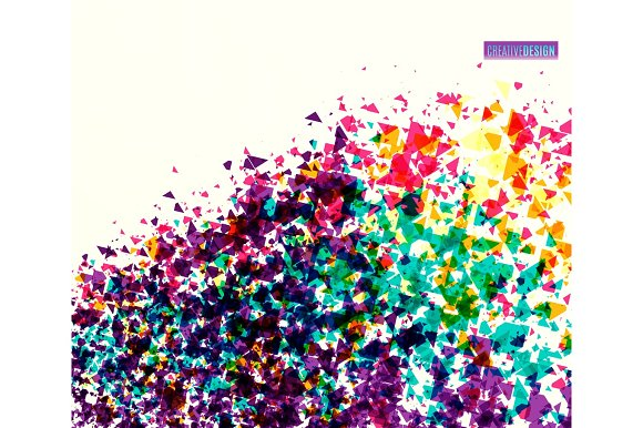 Vector Illustration Of Dynamic Creative Abstract Background