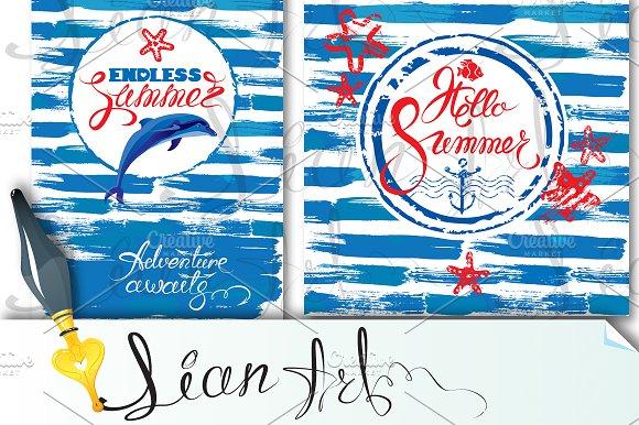 2 Seasonal Summer Cards