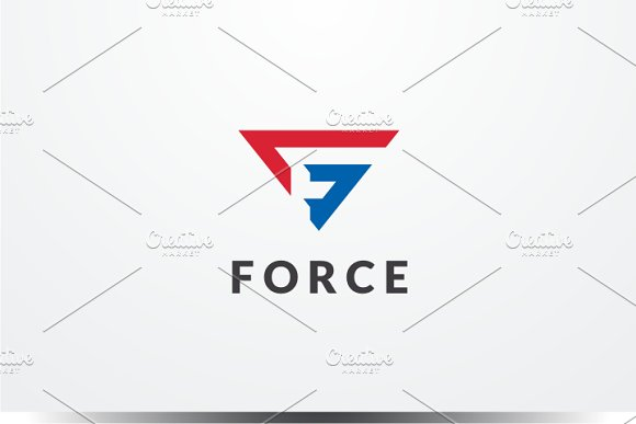 Force Letter F Logo
