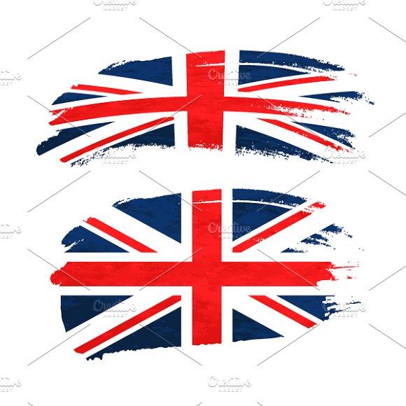 Brush Stroke With UnitedKingdom Flag