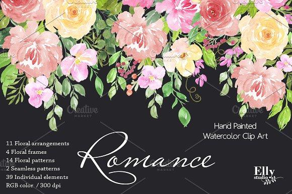 Watercolor Floral Clip Art Romance