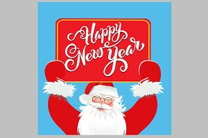 Happy New Year. Santa