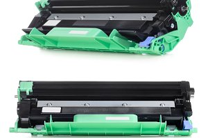 Laser printer cartridge isolated