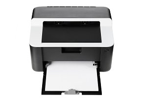 Compact printer isolated