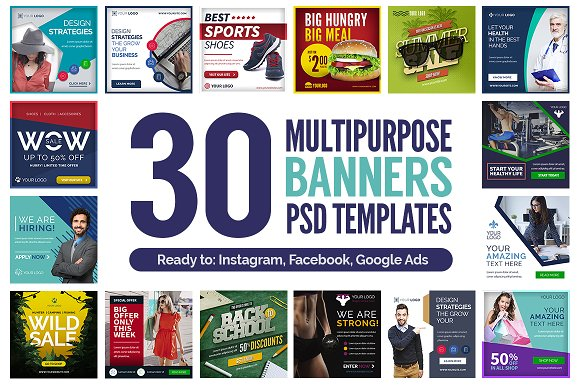 30 Multipurpose Banners